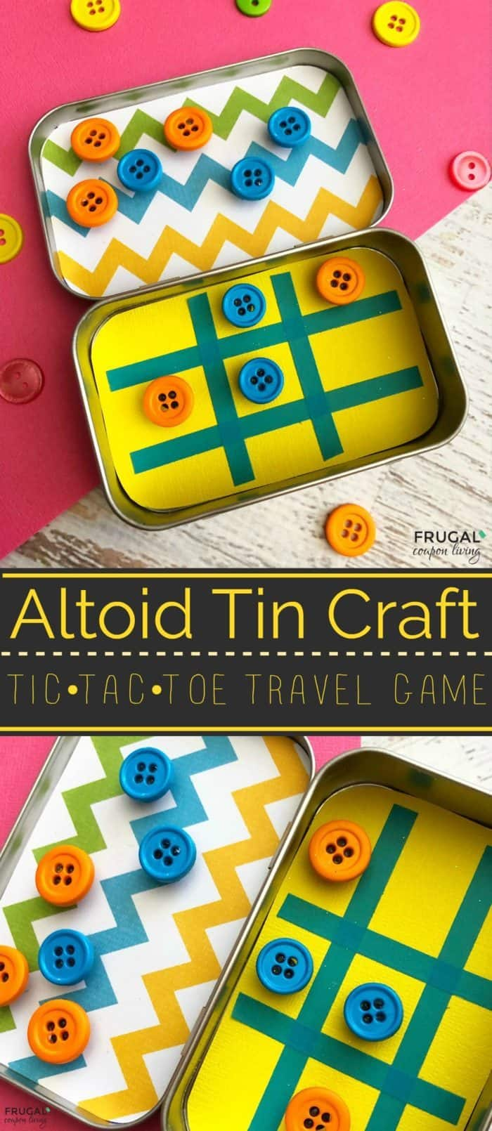 Altoid Tin Craft - Tic Tac Toe Travel Game