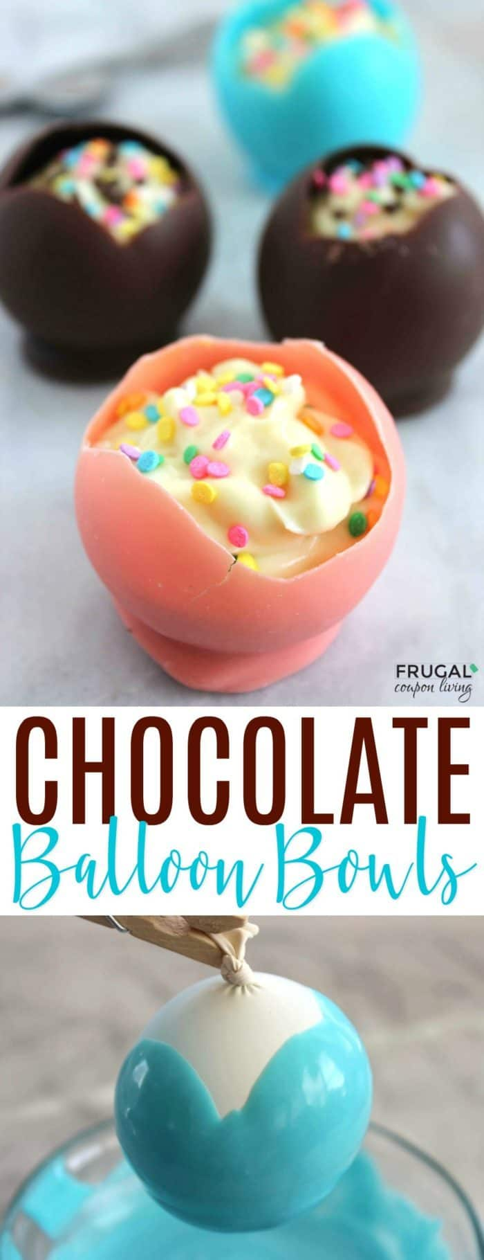 Ridiculously Easy Chocolate Pudding Bowls Made with Balloons