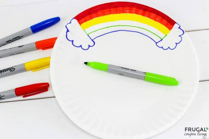 Noah's Ark Rainbow Plate for your Sunday School Craft