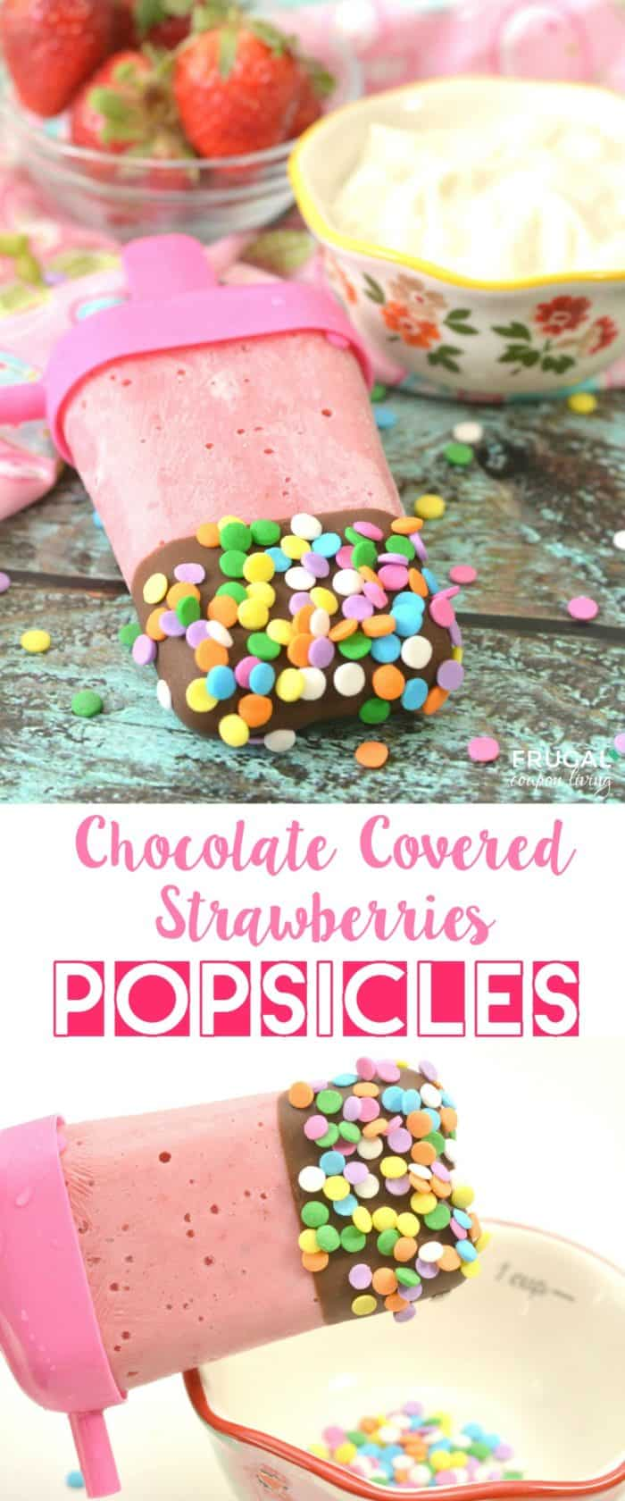 Chocolate Covered Strawberry Popsicles Pinterest