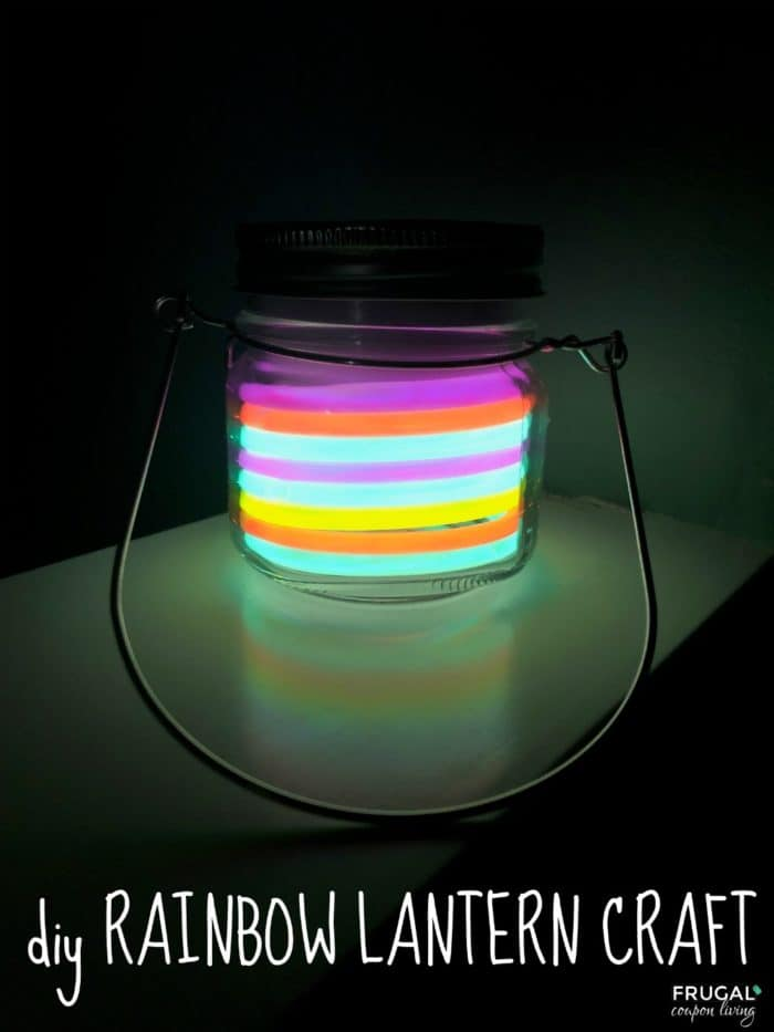 Easy Glow in the Dark Rainbow Lantern Craft