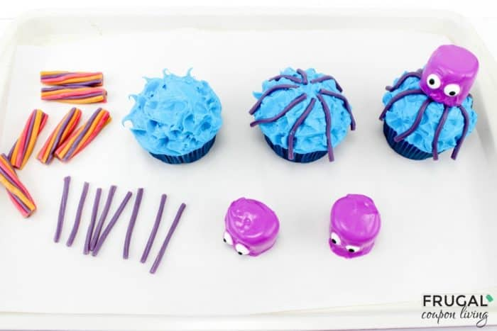 Octopus Cupcakes Tutorial