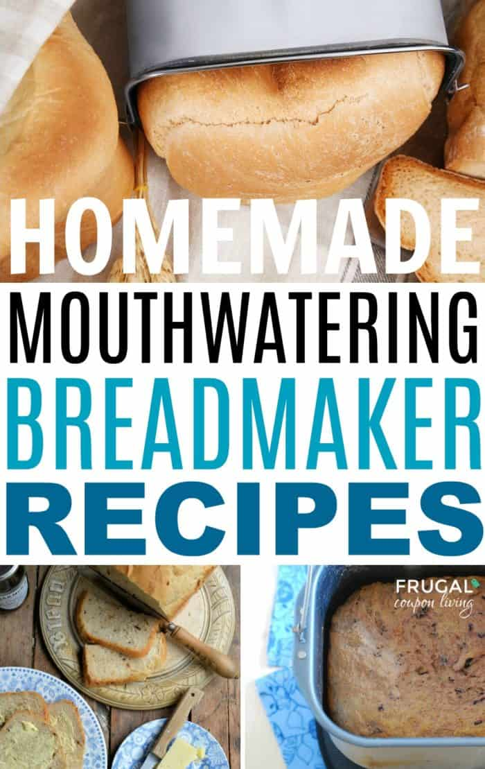The best Breadmaker Recipes on Frugal Coupon Living. Our round-up of favorite homemade bread recipes you can perfect in the bread machine with simple secret recipes to create the best-tasting bread.  #FrugalCouponLiving #breadmaker #bread #recipes #breadmakerrecipes #breadrecipes #easybreadrecipes #easybreadmakerrecipes #breadmachine #homemadebread #homemadebreadrecipes