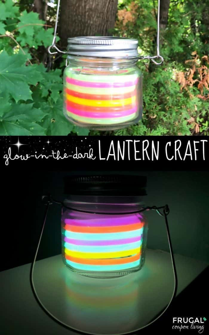 Easy Glow in the Dark Rainbow Lantern Craft for Glow Party Lighting