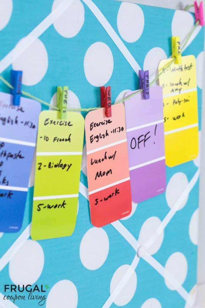 Weekly Dorm Room Calendar Craft Tutorial