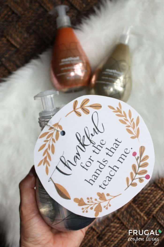 Thankful for the Hands that Teach Me Soap Gift Tag