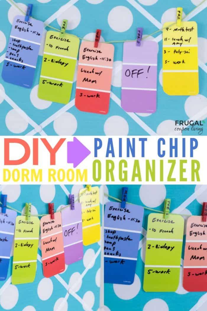 DIY Weekly Dorm Room Calendar Craft