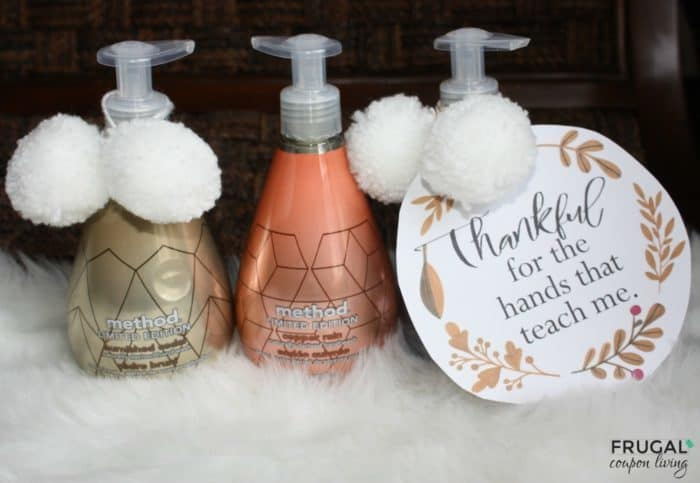 Thankful for the Hands that Teach Me Printable Gift Tag