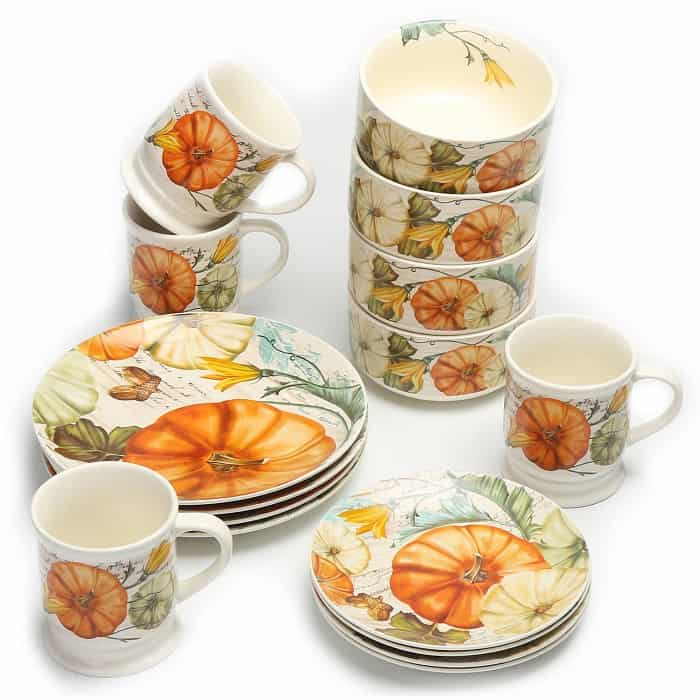 Mainstays Pumpkins and Fall Leaves Tabletop Collection