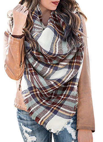 Women's Plaid Blanket Shawls