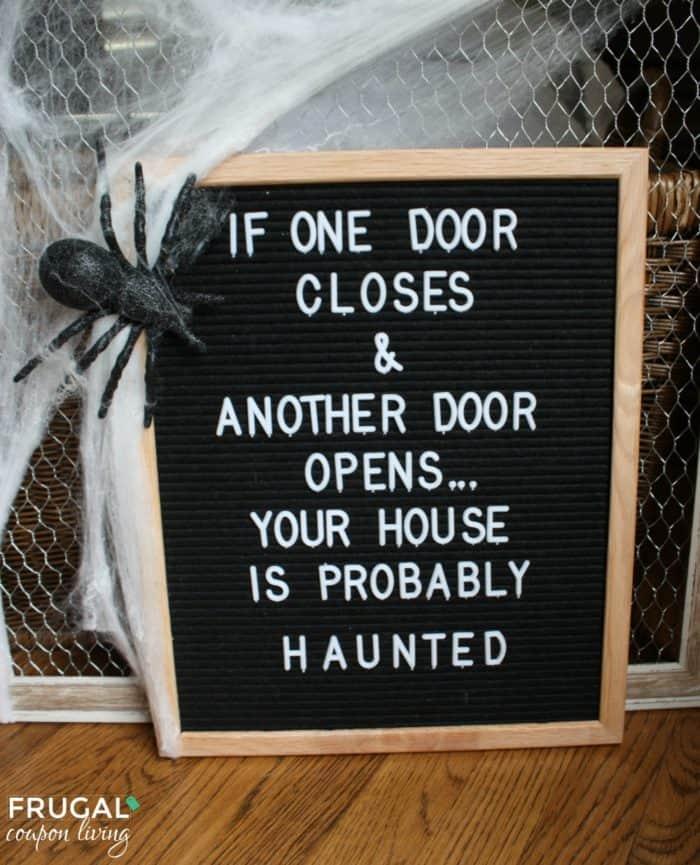 Halloween Felt Board Quote