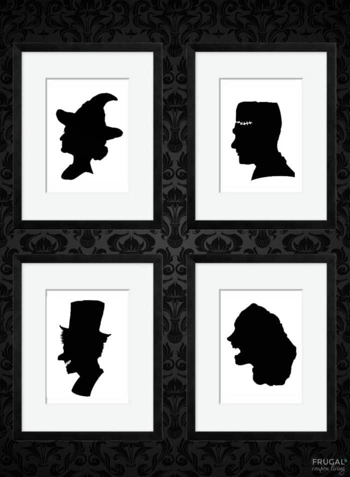 Halloween Shadow Portrait Printables