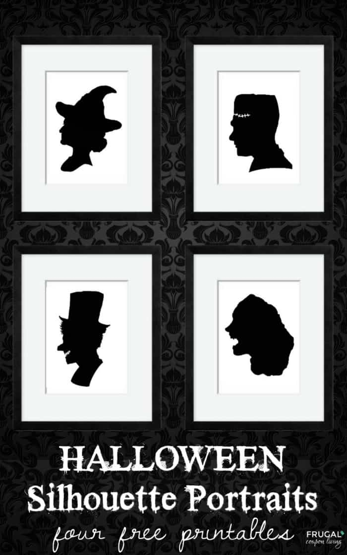 Free Halloween Silhouette Portrait Printables