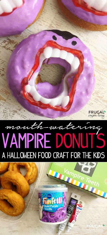 Dracula Doughnuts for Halloween