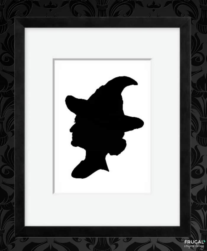 Witch Shadow - Halloween Silhouette Portrait Printables