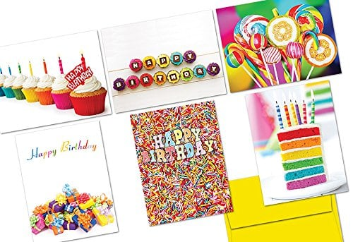 36ct Colorful Birthday Note Cards W Envelopes 999