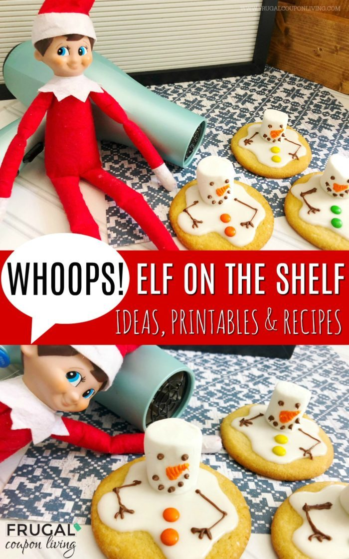 Melted Snowman Cookies | Elf on the Shelf Ideas | Cookies for Santa #FrugalCouponLiving #Elfontheshelf #elfontheshelfideas #elf #elfideas #cookies #cookierecipes #meltedsnowmancookies #snowmancookies #snowman #snowmen #meltedsnowmencookies #snowmencookies #elfontheshelfrecipes