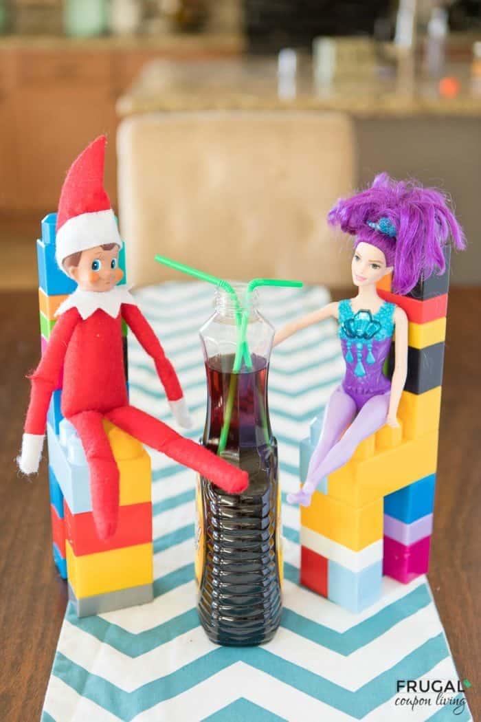 Elf Syrup Straw | Elf Date | Easy Elf on the Shelf Ideas | #FrugalCouponLiving #ElfontheShelf #ElfontheShelfIdeas #ElfIdeas #funnyelfideas #funnyelfontheshelf #elfprintables #freeelfprintables #printables #freeprintables #elfdate #syrup #syrupstraw