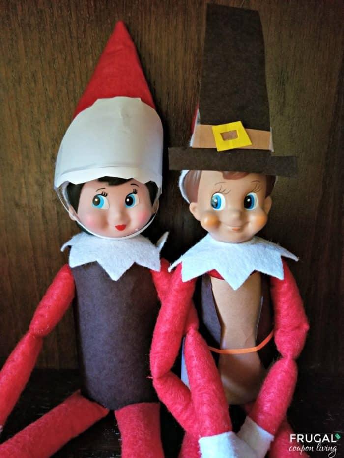 Elf on the Shelf Ideas Thanksgiving Pilgrim