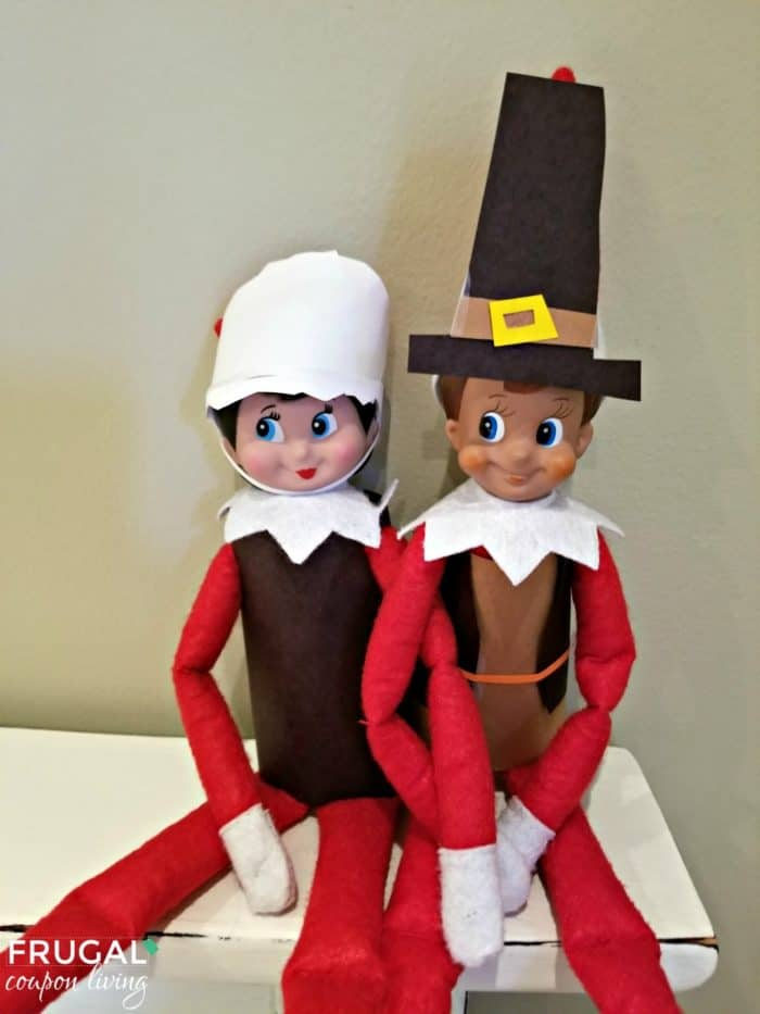 Thanksgiving Pilgrim Elf on the Shelf