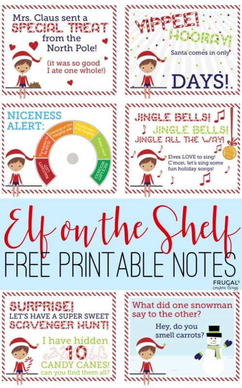 image regarding Elf Printable Coupons known as Absolutely free Elf upon the Shelf Printables