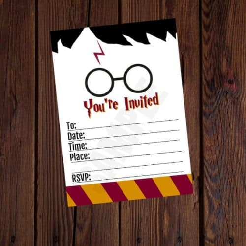 If You Do Not Feel Like Crafting Your Own Invitations These Harry Potter Invites Are Precious