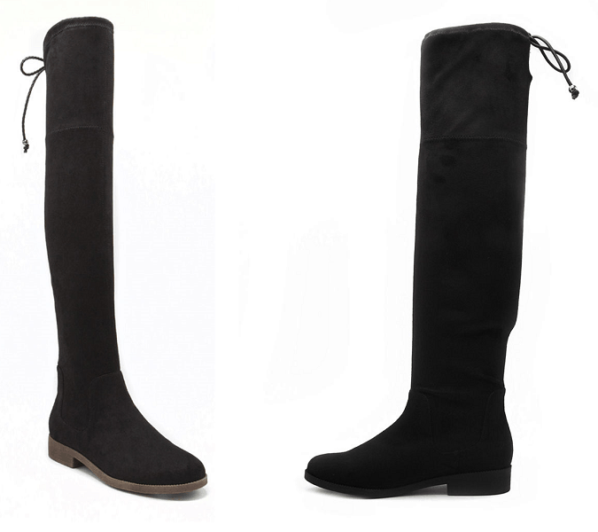 Rampage Upside Faux Suede Over-The-Knee Boots