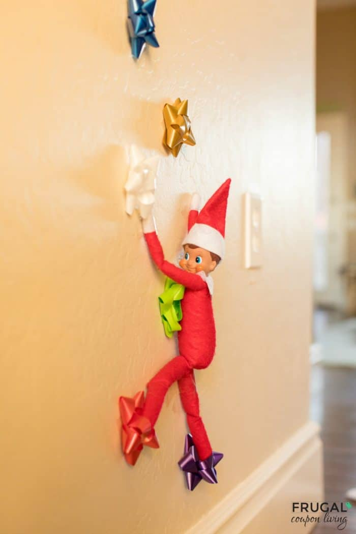 Easy Elf Idea - Bow Climbing Wall