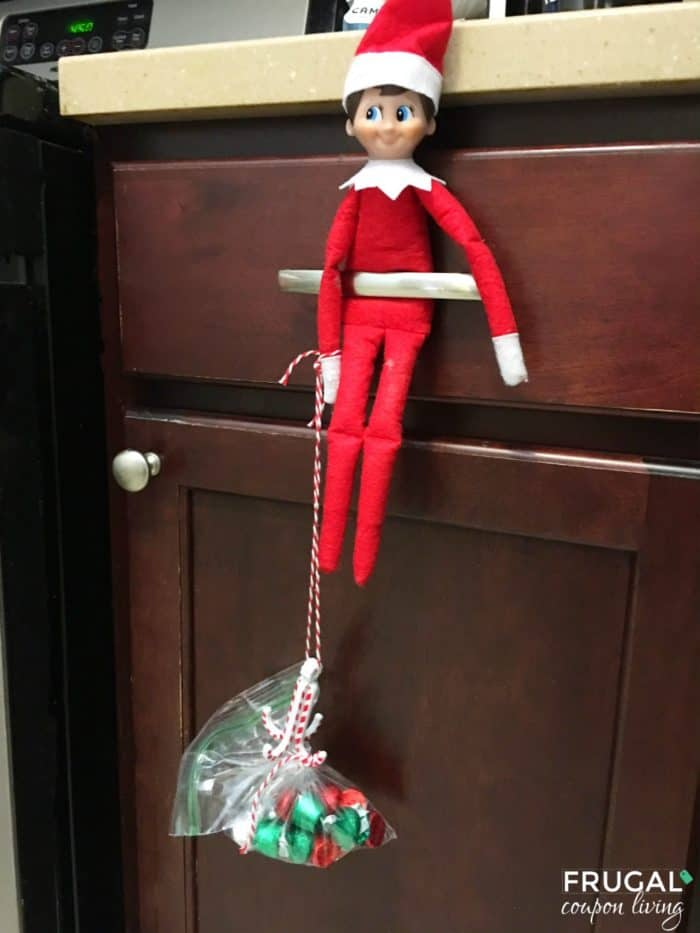Easy Elf on the Shelf Ideas Elf Brings Candy
