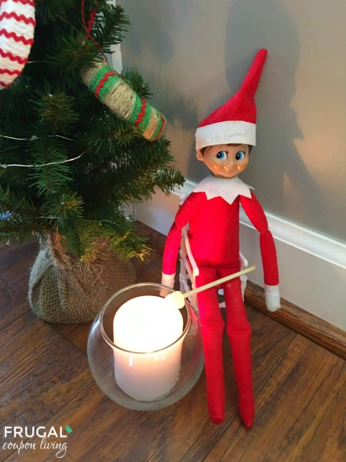 Easy Elf on the Shelf Ideas | Elf Marshmallow S'mores | Free Elf Printables #FrugalCouponLiving #ElfontheShelf #ElfontheShelfIdeas #ElfIdeas #funnyelfideas #funnyelfontheshelf #elfprintables #freeelfprintables #printables #freeprintables