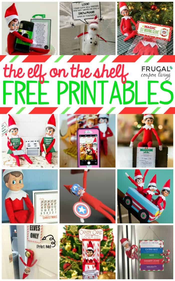 picture regarding Elf Printable Coupons known as Cost-free Elf upon the Shelf Printables