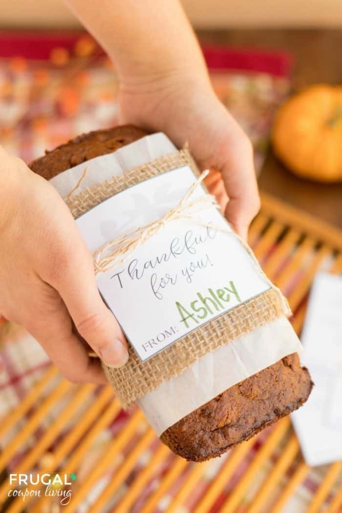 Thankful for You Gift Tag and Thanksgiving Neighbor Teacher Gift Idea
