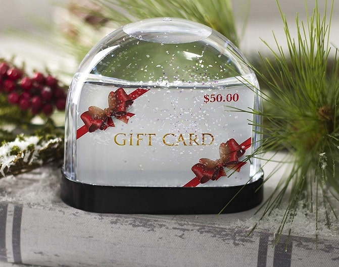 Gift Card Holder Snow Globe