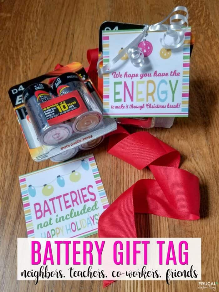 Battery Gift Tag for Teachers, Co-Workers, Neighbors, and Friends