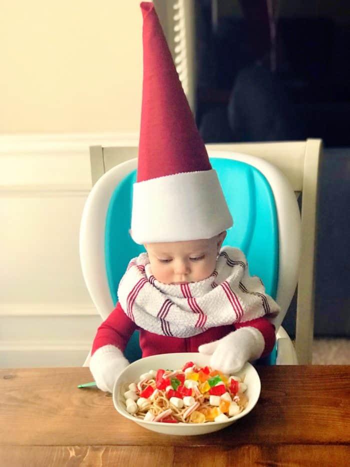 Spaghetti Elf on the Shelf Idea