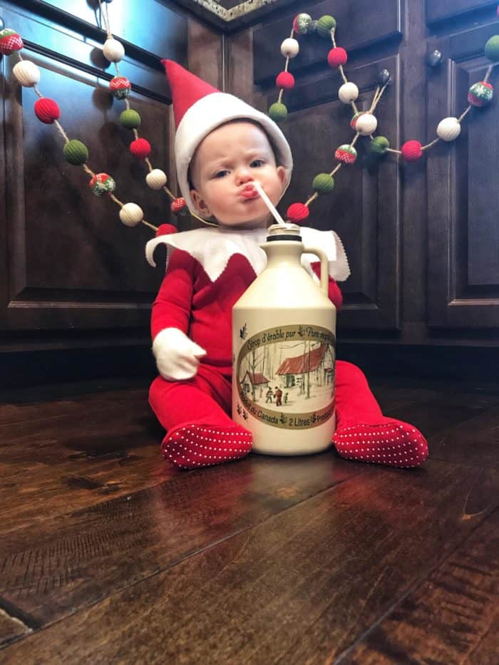 Got Syrup? Elf on the Shelf Baby Costume