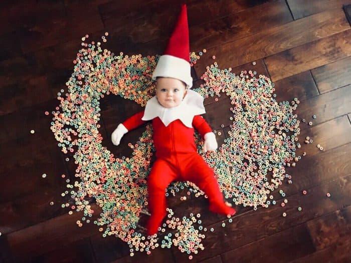 Cereal Angel Elf on the Shelf Idea