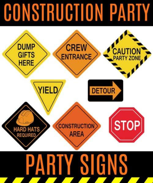photograph relating to Free Printable Construction Party Signs identify Below Structure Occasion Strategies - Challenging Hat Needed!