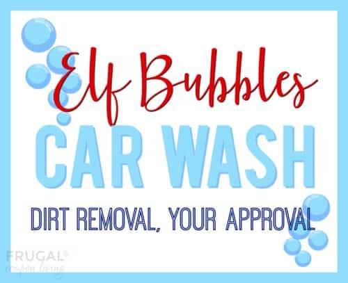 Elf on the Shelf Car Wash Printable