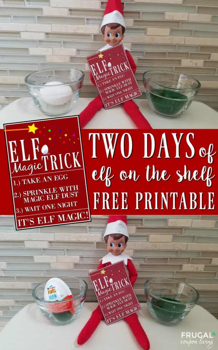 Elf on the Shelf Ideas | Kinder Joy Magic Egg Printable