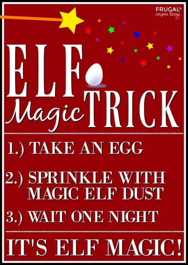 photo relating to Elf Printable Coupons named Elf upon the Shelf Strategies Kinder Pleasure Magic Egg Printable