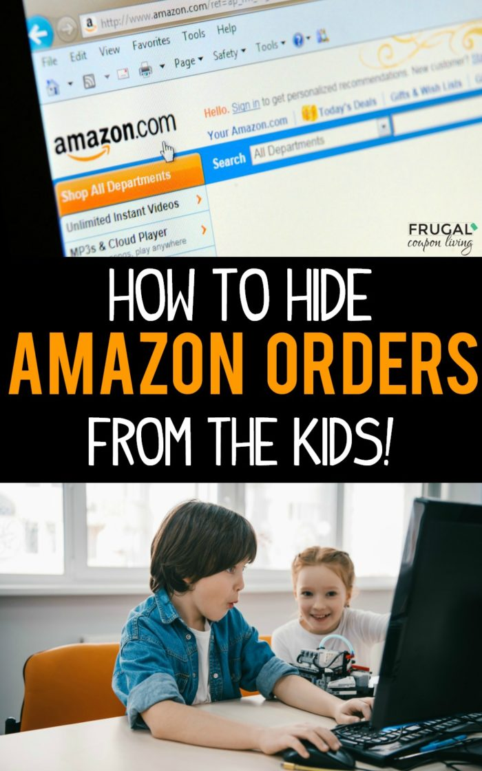 How to Hide Amazon Orders from Kids