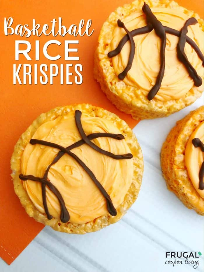 March Madness Basketball Rice Krispies