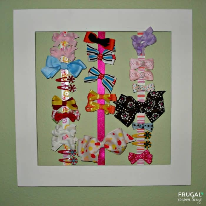 Open Picture Frame Hair Bow Holder