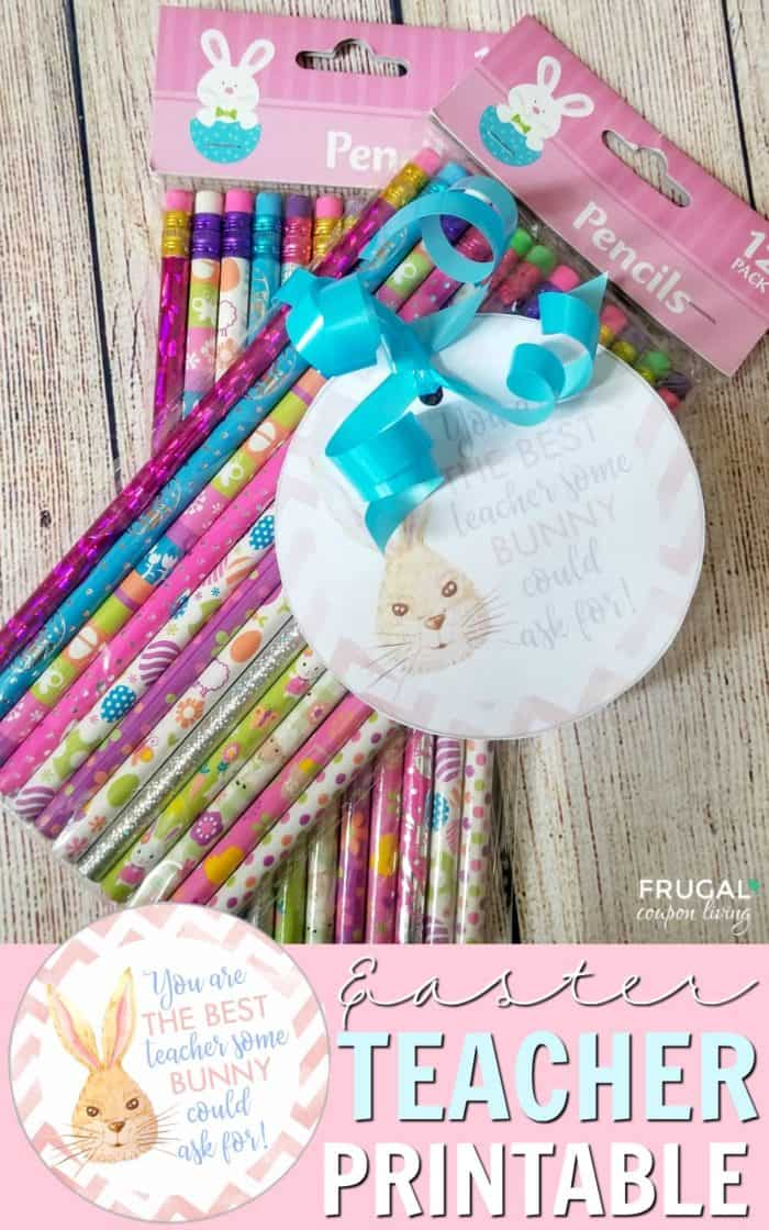 Easter Teacher Gift Idea with Printable
