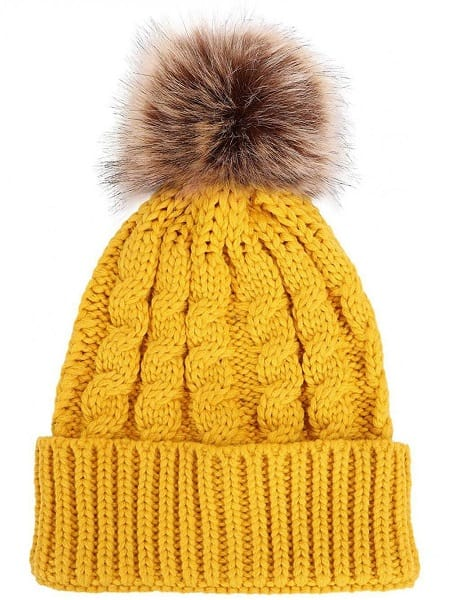 Stay warm this fall and winter with this ultra-thick Livingston Women s  Winter Soft Knitted Beanie Hat with Faux Fur Pom Pom. Larger design than  most to ... f46a13938