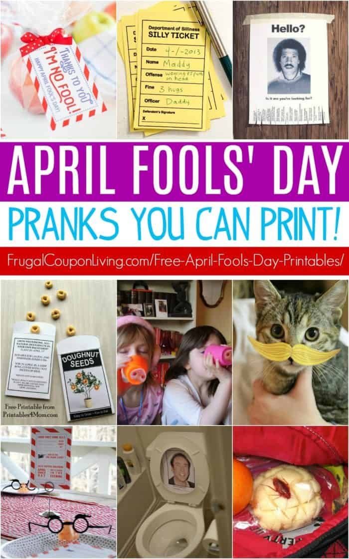 Printable April Fools Day Pranks