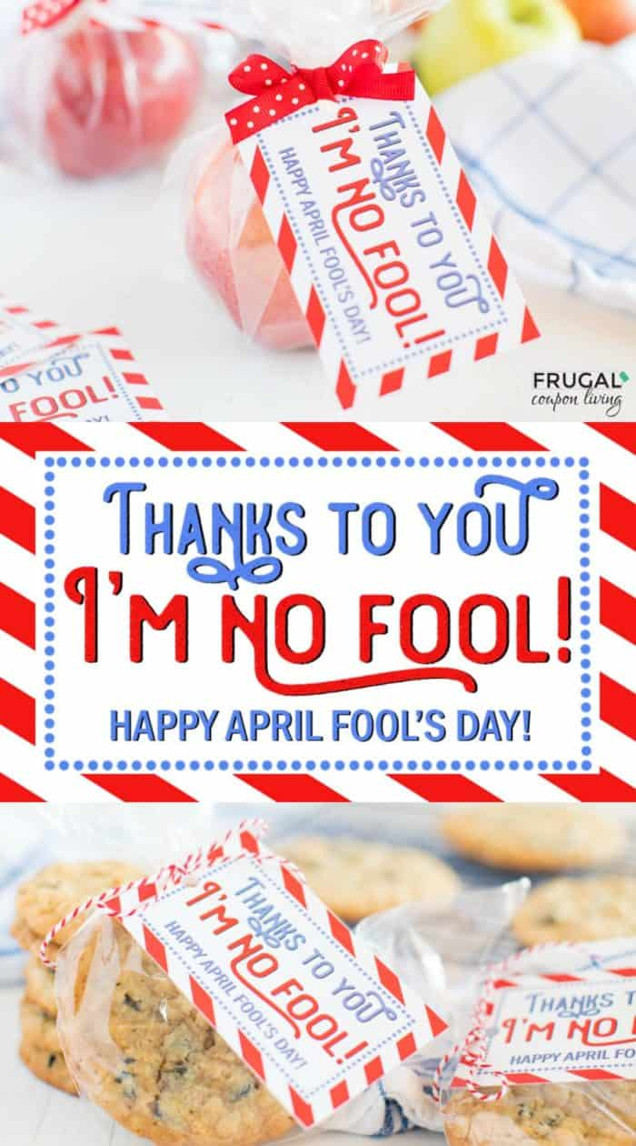 Thanks to you I'm no fool! Adorable April Fools Day Printable for Teachers! Pair with popcorn, apples, cookies, or Smarties! #FrugalCouponLiving #aprilfools #aprilfoolsday #pranks #prankster #jokes #practicaljokes #kids #printables #freeprintables #teacherspayteachers #school #fooled #teacher #teachergifts #teachergiftideas