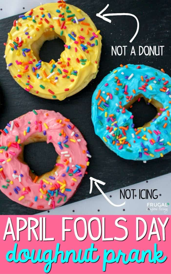 April Fools Food Prank. Apples turned into donuts #FrugalCouponLiving #aprilfoolsday #pranks #aprilfools #apple #doughnuts #donuts