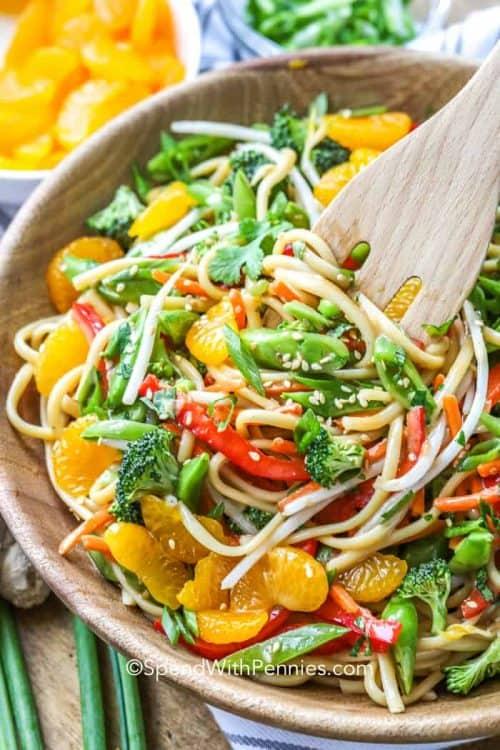 Asian Noodle Salad with Mandarin Oranges